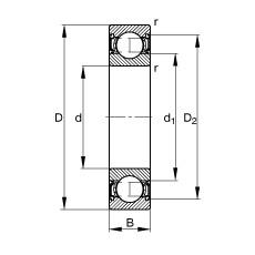 90 mm x 190 mm x 43 mm  FAG 6318-2RSR deep groove ball bearings