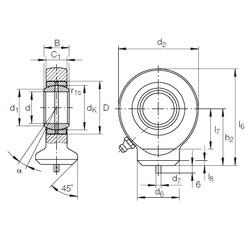 30 mm x 47 mm x 22 mm  INA GK 30 DO plain bearings