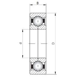 ISO QJ318 angular contact ball bearings