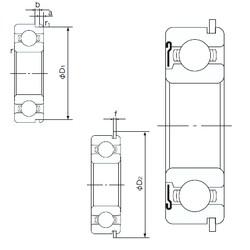 90 mm x 190 mm x 43 mm  NACHI 6318ZNR deep groove ball bearings