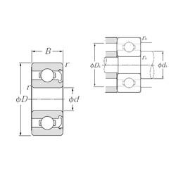 6,35 mm x 15,875 mm x 4,978 mm  NTN R4Z deep groove ball bearings