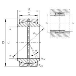30 mm x 47 mm x 22 mm  INA GE 30 DO plain bearings