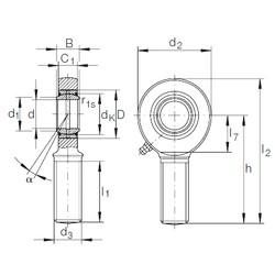 30 mm x 47 mm x 22 mm  INA GAR 30 DO plain bearings