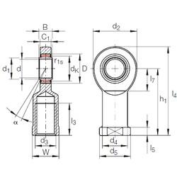 30 mm x 47 mm x 22 mm  INA GIR 30 UK plain bearings