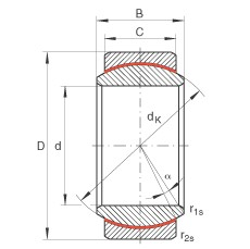 INA GE30-UK plain bearings