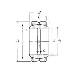 30 mm x 47 mm x 22 mm  NTN SA1-30BSS plain bearings