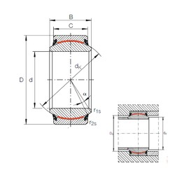 30 mm x 47 mm x 22 mm  INA GE 30 UK-2RS plain bearings