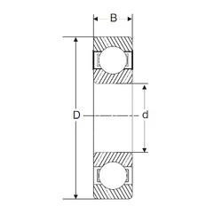 90 mm x 190 mm x 43 mm  SIGMA 6318 deep groove ball bearings