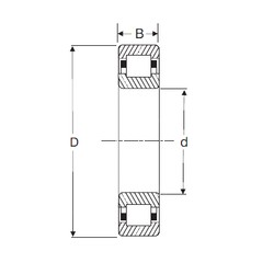 90 mm x 190 mm x 43 mm  SIGMA NUP 318 cylindrical roller bearings