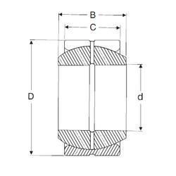 30 mm x 47 mm x 22 mm  SIGMA GE 30 ES plain bearings