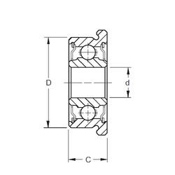 6,35 mm x 15,875 mm x 4,978 mm  ZEN SFR4-2RS deep groove ball bearings