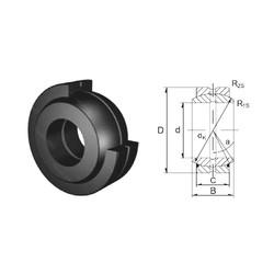 30 mm x 47 mm x 22 mm  ZEN GE30ES plain bearings