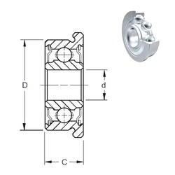6,35 mm x 15,875 mm x 4,978 mm  ZEN SFR4-2Z deep groove ball bearings