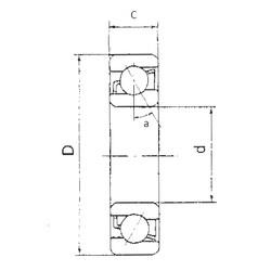 90 mm x 190 mm x 43 mm  FBJ 7318B angular contact ball bearings