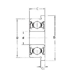 6,35 mm x 15,875 mm x 4,978 mm  FBJ FR4ZZ deep groove ball bearings