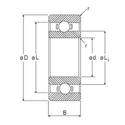 6,35 mm x 15,875 mm x 4,978 mm  NMB R-4 deep groove ball bearings