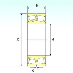 170 mm x 260 mm x 90 mm  ISB 24034-2RS spherical roller bearings