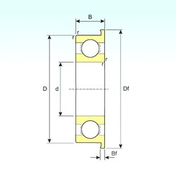 6,35 mm x 15,875 mm x 4,978 mm  ISB FR4 deep groove ball bearings