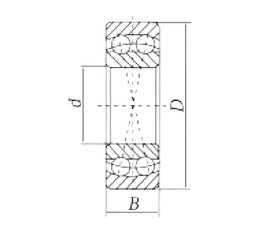 90 mm x 190 mm x 43 mm  Loyal 1318 self aligning ball bearings