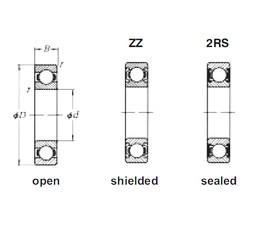 90 mm x 190 mm x 43 mm  Loyal 6318ZZ deep groove ball bearings