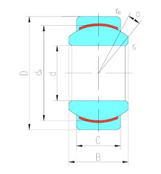 30 mm x 47 mm x 22 mm  LS GE30C plain bearings
