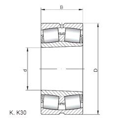 170 mm x 260 mm x 90 mm  ISO 24034 K30W33 spherical roller bearings