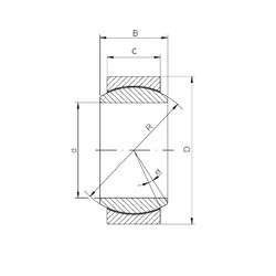 30 mm x 47 mm x 22 mm  Loyal GE 030 ECR-2RS plain bearings