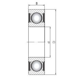 90 mm x 190 mm x 43 mm  ISO 6318-2RS deep groove ball bearings
