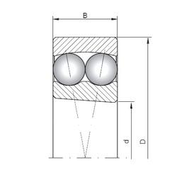 90 mm x 190 mm x 43 mm  Loyal 1318K self aligning ball bearings
