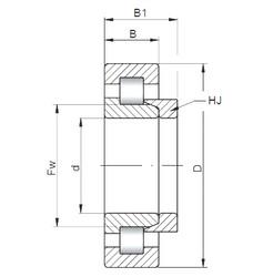 90 mm x 190 mm x 43 mm  Loyal NH318 E cylindrical roller bearings