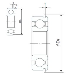 90 mm x 190 mm x 43 mm  NACHI 6318NR deep groove ball bearings