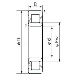 90 mm x 190 mm x 43 mm  NACHI NU 318 E cylindrical roller bearings