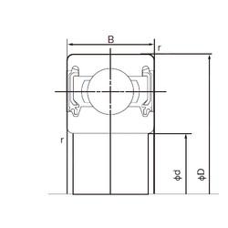 90 mm x 190 mm x 43 mm  NACHI 6318-2NK deep groove ball bearings