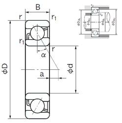 90 mm x 190 mm x 43 mm  NACHI 7318C angular contact ball bearings