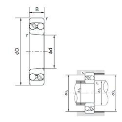 90 mm x 190 mm x 43 mm  NACHI 1318K self aligning ball bearings