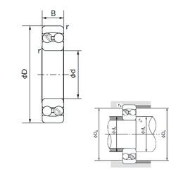 90 mm x 190 mm x 43 mm  NACHI 1318 self aligning ball bearings