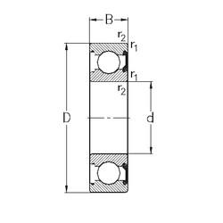 90 mm x 190 mm x 43 mm  NKE 6318-2RSR deep groove ball bearings
