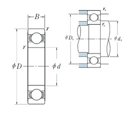 90 mm x 190 mm x 43 mm  NSK 6318 deep groove ball bearings