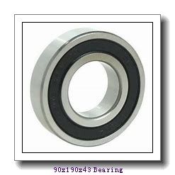 90 mm x 190 mm x 43 mm  ISO 21318 KCW33+H318 spherical roller bearings