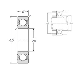 90 mm x 190 mm x 43 mm  NTN 6318LLU deep groove ball bearings