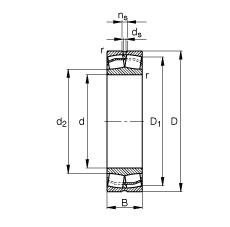 190 mm x 400 mm x 132 mm  FAG 22338-E1-JPA-T41A spherical roller bearings