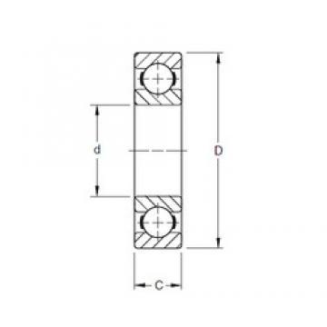 90 mm x 190 mm x 43 mm  Timken 318K deep groove ball bearings