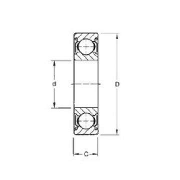 90 mm x 190 mm x 43 mm  CYSD 6318-ZZ deep groove ball bearings