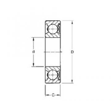 50 mm x 90 mm x 20 mm  Timken 210KD deep groove ball bearings