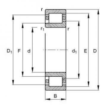190 mm x 400 mm x 132 mm  FAG NJ2338-EX-TB-M1 cylindrical roller bearings