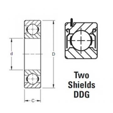 65 mm x 140 mm x 33 mm  Timken 313KDDG deep groove ball bearings