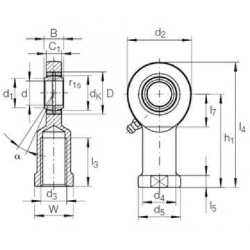 17 mm x 30 mm x 14 mm  INA GIR 17 DO plain bearings