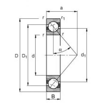 65 mm x 85 mm x 10 mm  FAG 71813-B-TVH angular contact ball bearings