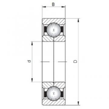 ISO QJ210 angular contact ball bearings