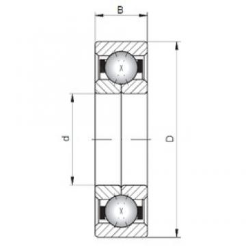 Loyal QJ203 angular contact ball bearings